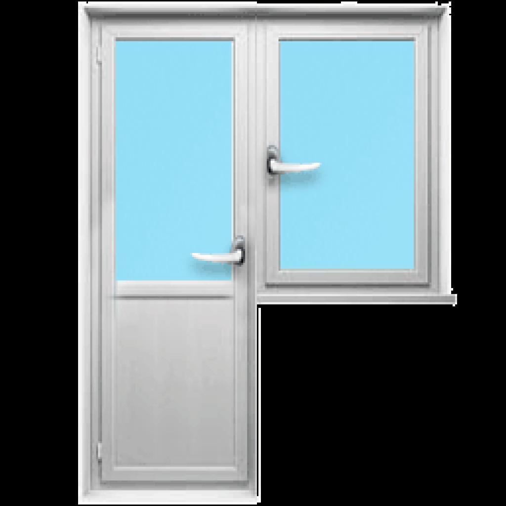 Балконный блок с одностворчатым окном
