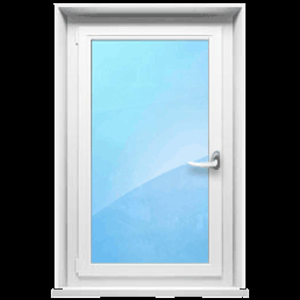 Одностворчатое окно с открывающейся створкой