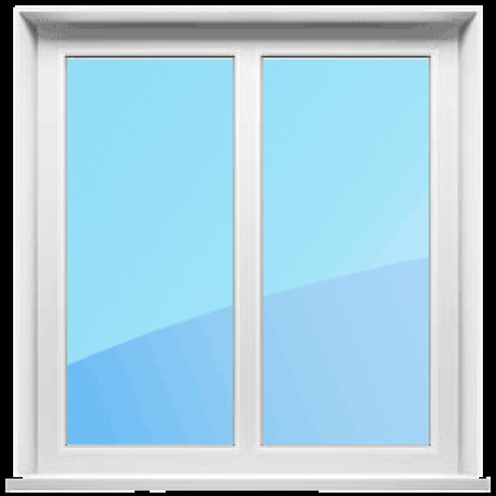 Двустворчатое глухое окно
